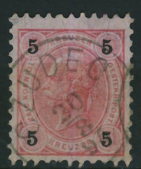 Czudec 1896 r - stempel na zn.austryjackim