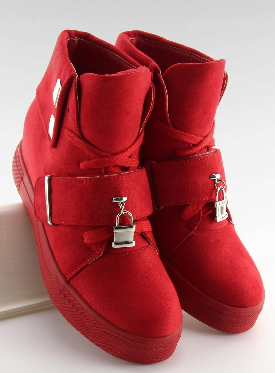 Sneakersy damskie czerwone NC158 38 modny trend