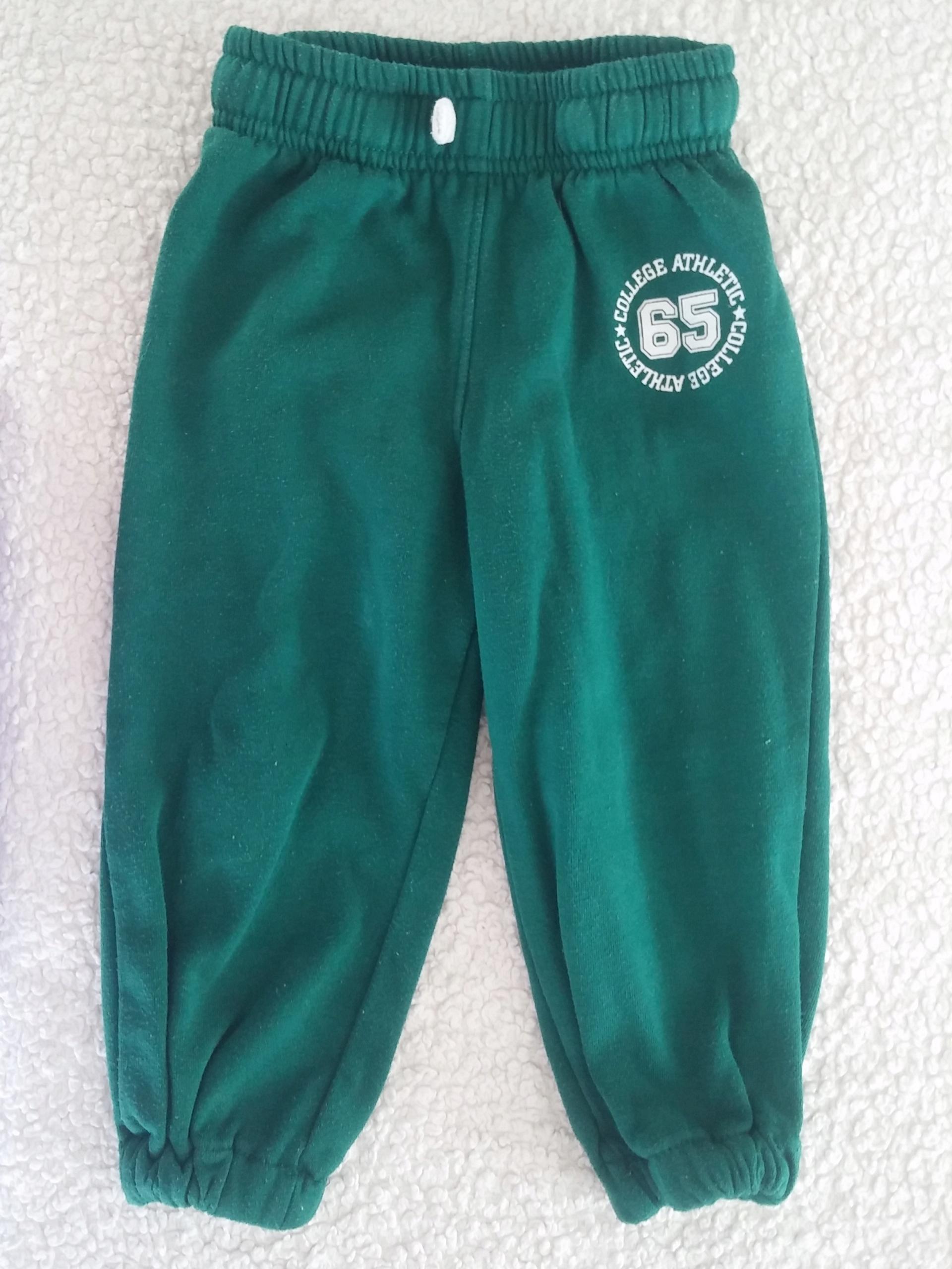Spodnie dresowe zielone 86 92 cm