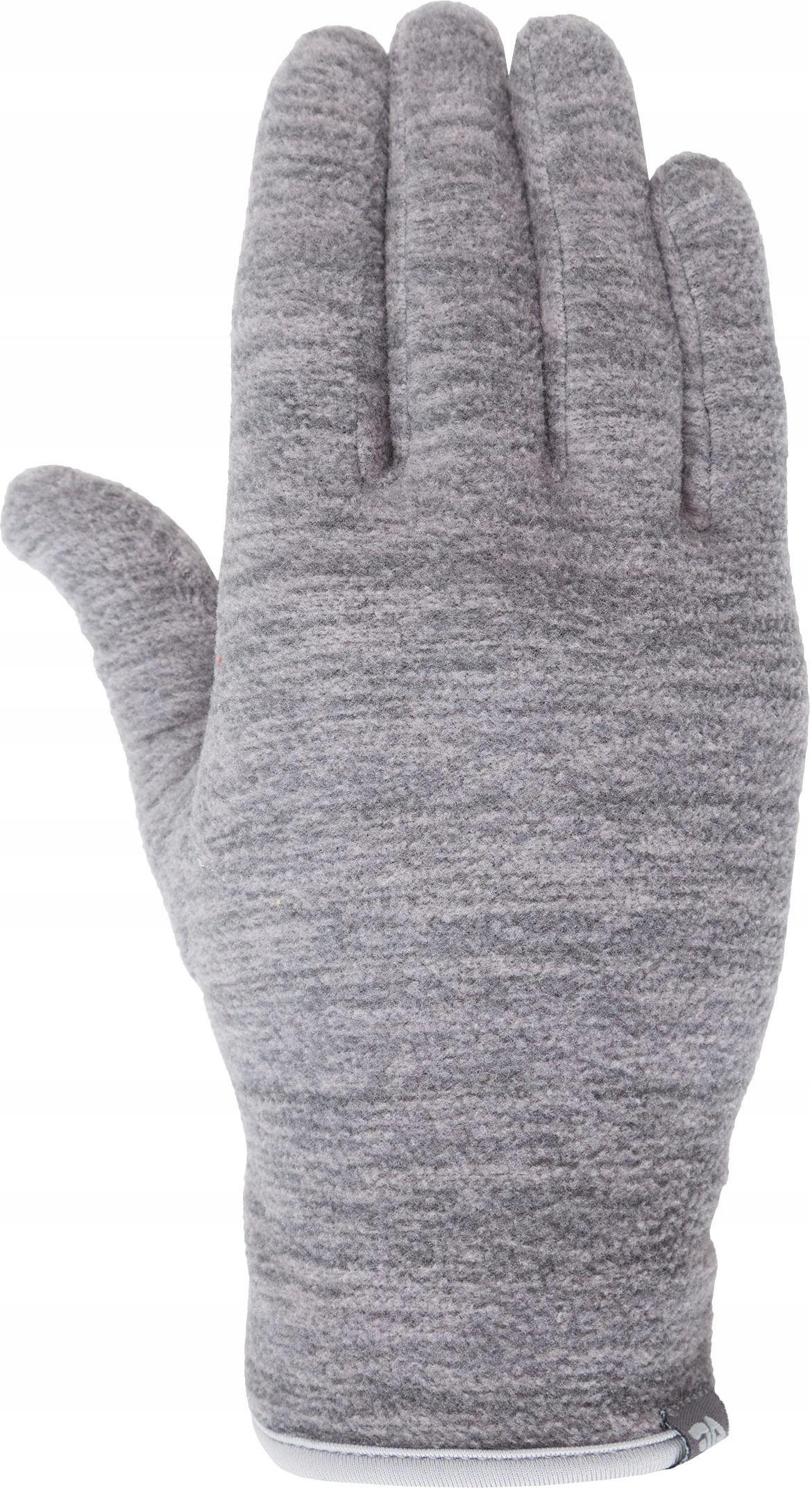 4f Rękawiczki unixex H4Z18-REU001 szary melanż r.