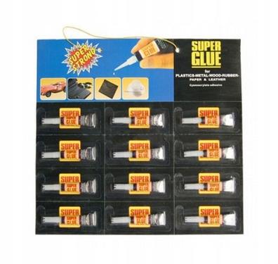 Klej Super Glue 12 Szt Super Szybki Mocny Zestaw