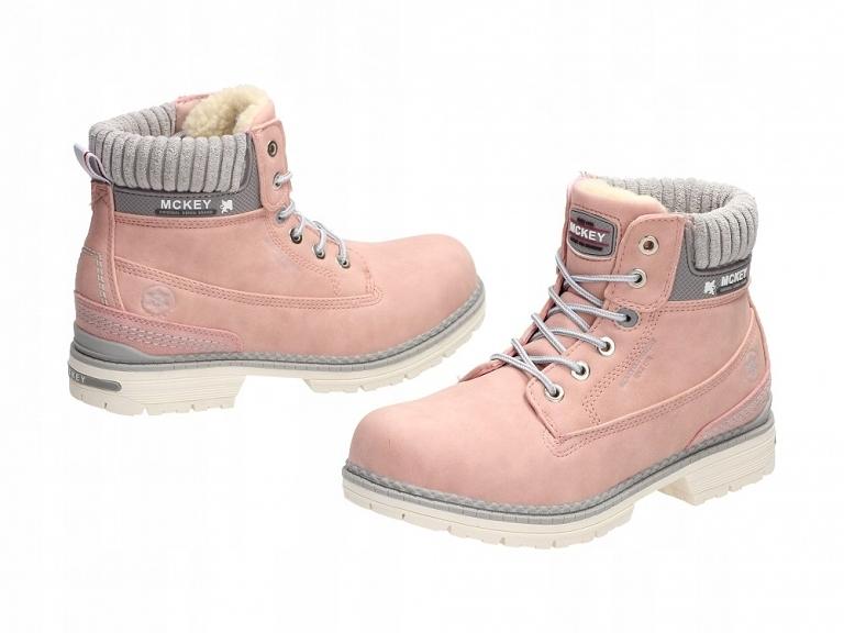 422bd927 Różowe trapery, śniegowce damskie McKey DTR600 r36 - 7677937215 ...