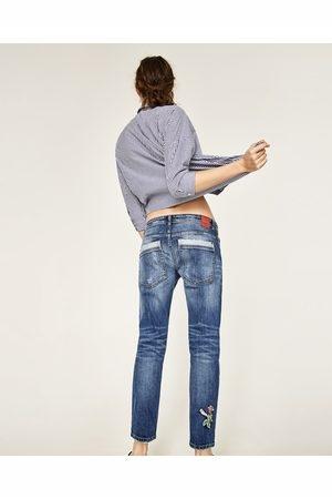 ZARA nowe jeansy relaxed fit z haftem 34