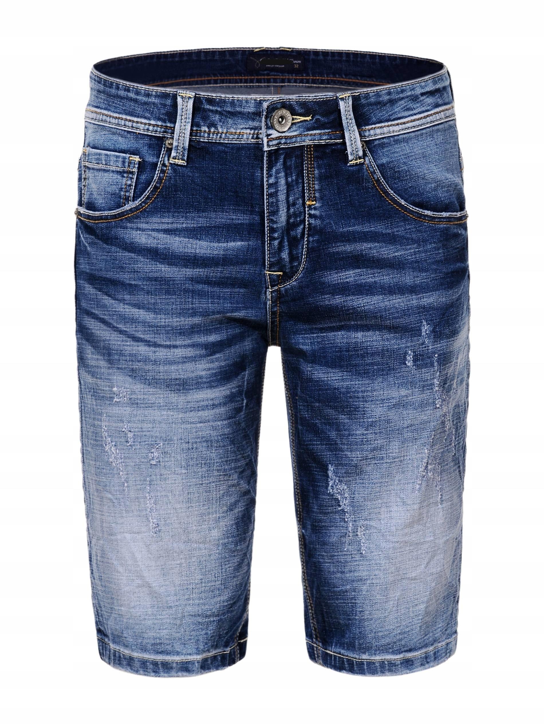 SPODENKI MĘSKIE SZORTY jeansowe DUŻE ROZMIARY 42