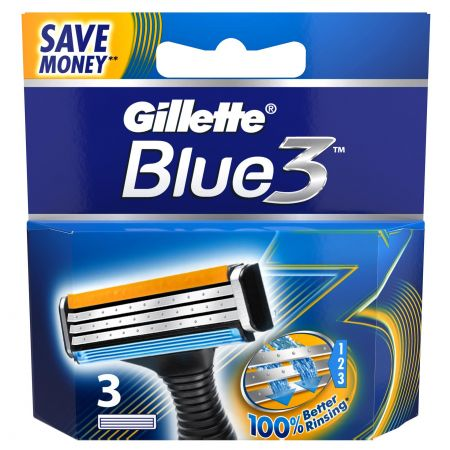 3 szt. Wkłady Gillette Blue 3, Sensor