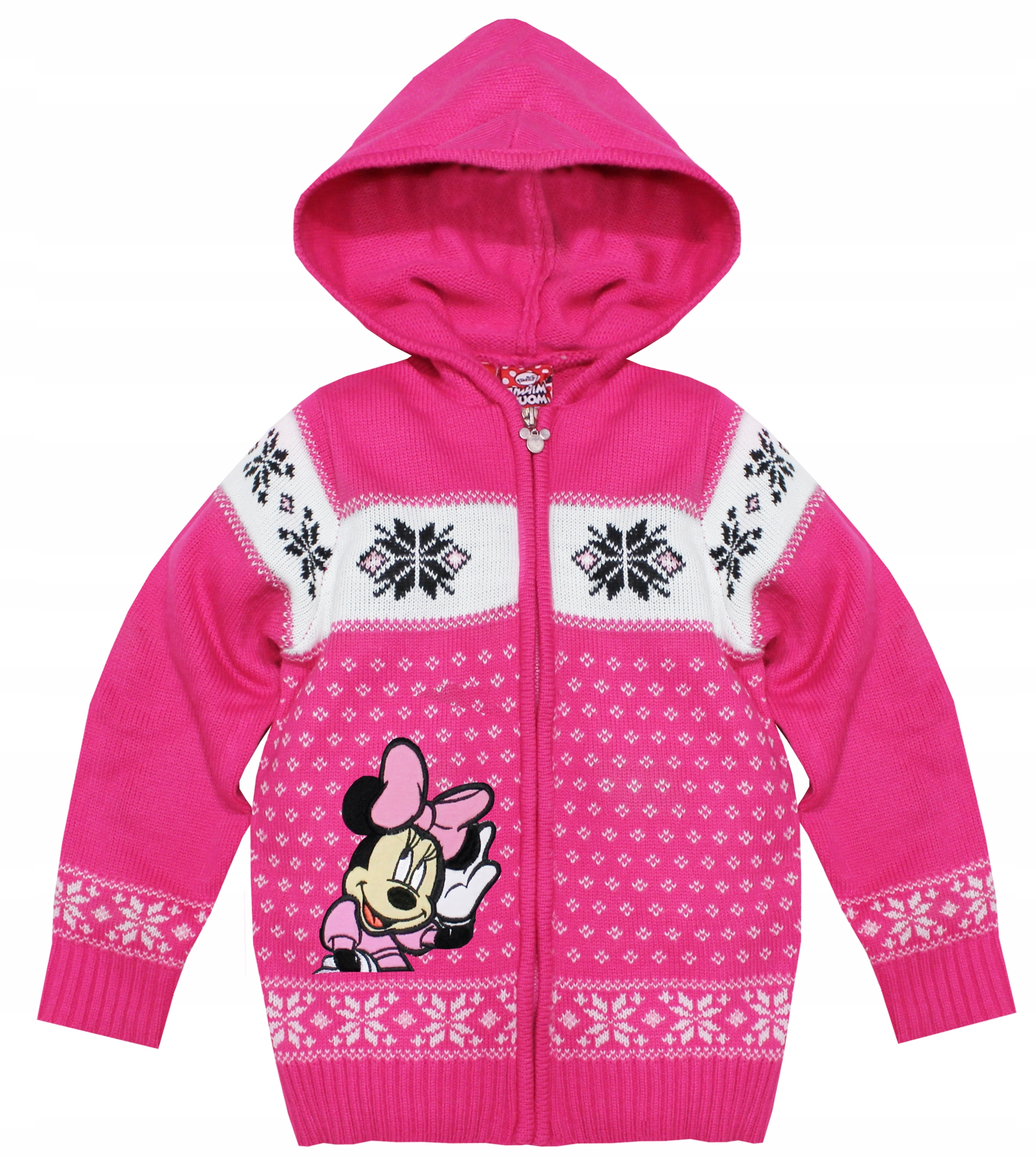 1071*DISNEY*SWETEREK Z KAPTURKIEM Z MINNIE r 122