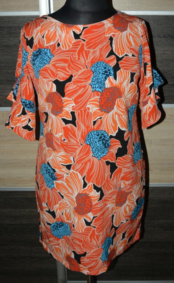 g* Zwiewna sukienka w kwiaty 44