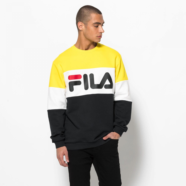 Bluza FILA STRAIGHT BLOCKED CREW - M