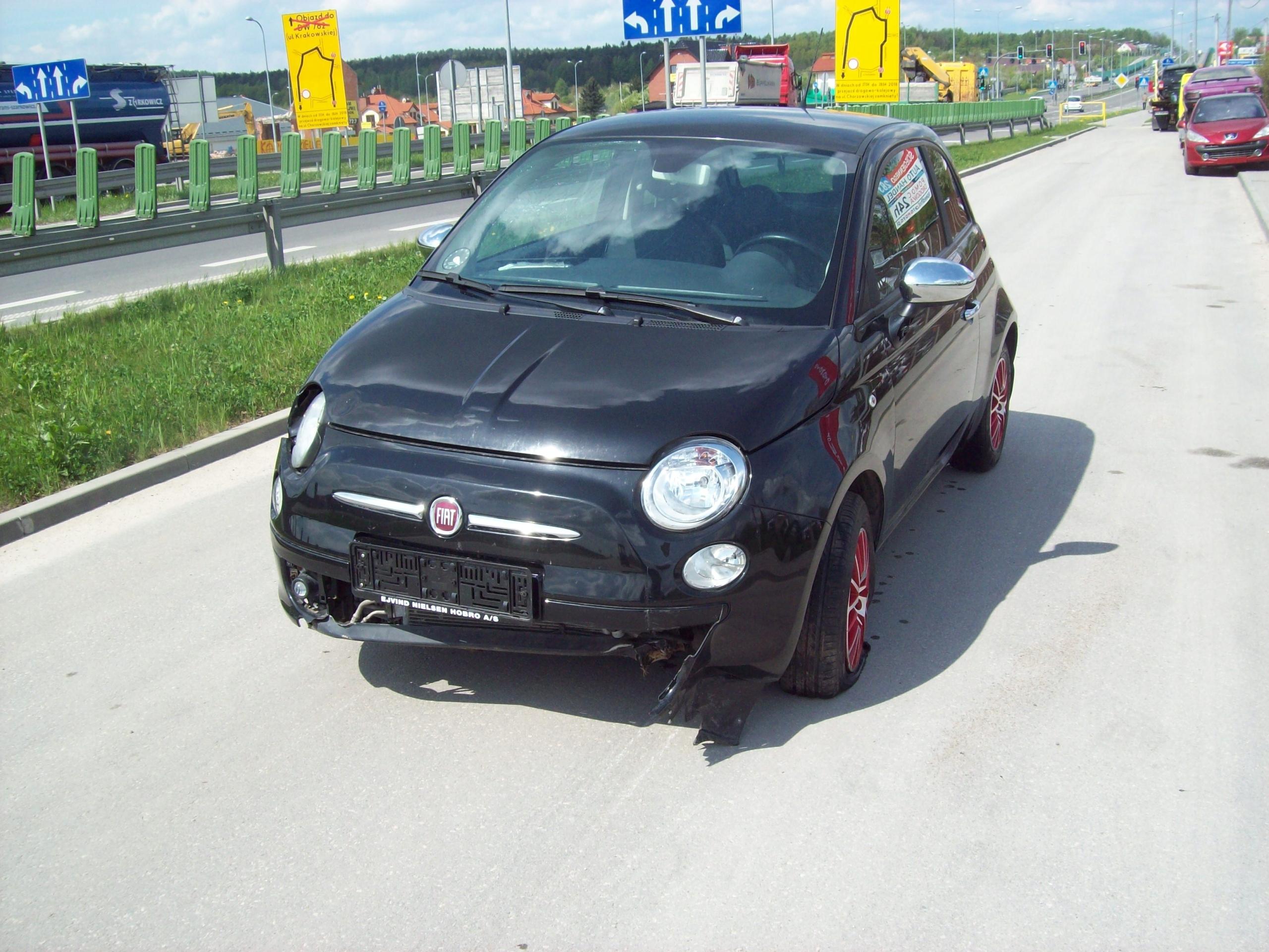 Fiat 500 1.3jtd Uszkodzone Zawieszenie KHS Kielce