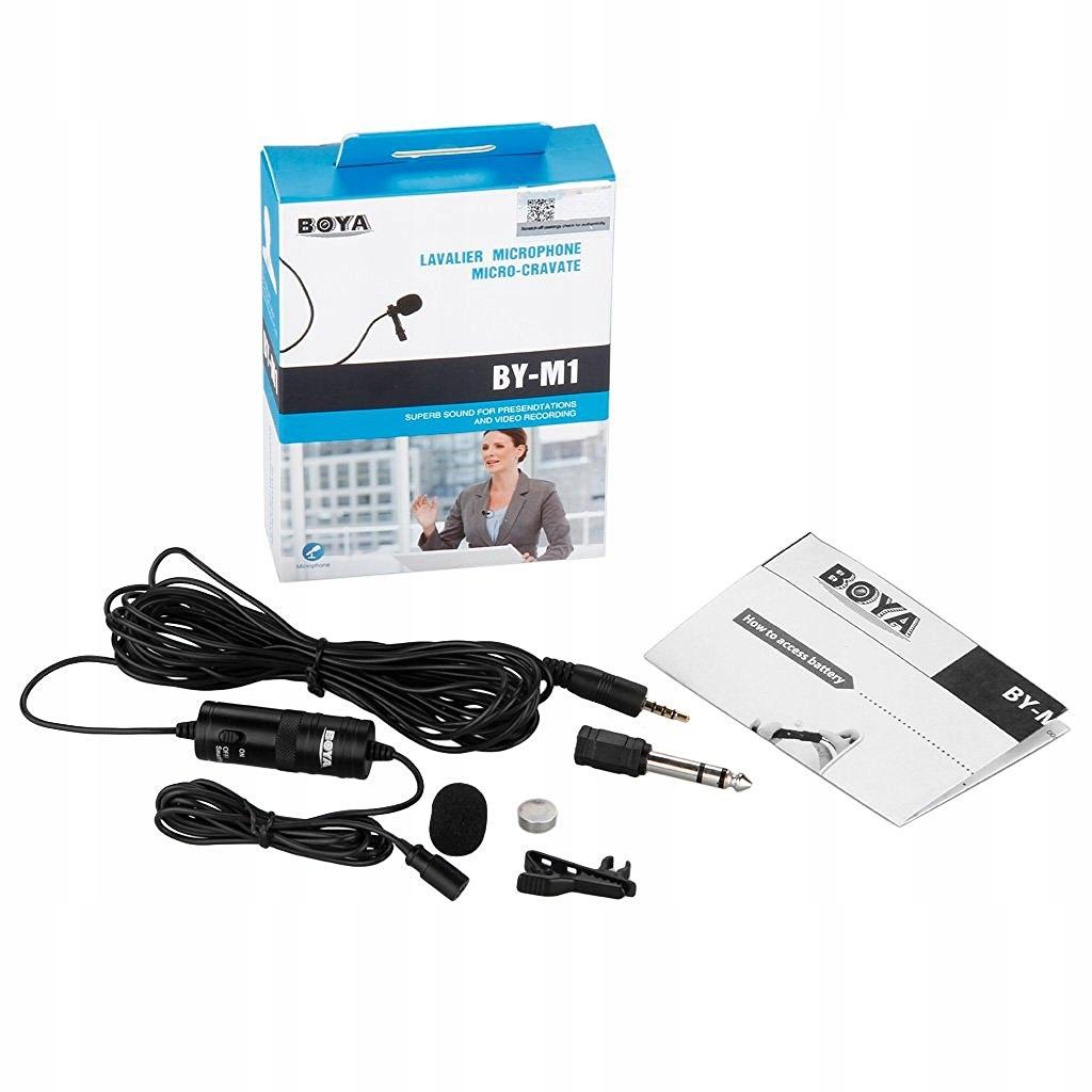 Mikrofon pojemnościowy BOYA BY-M1 z klipsem