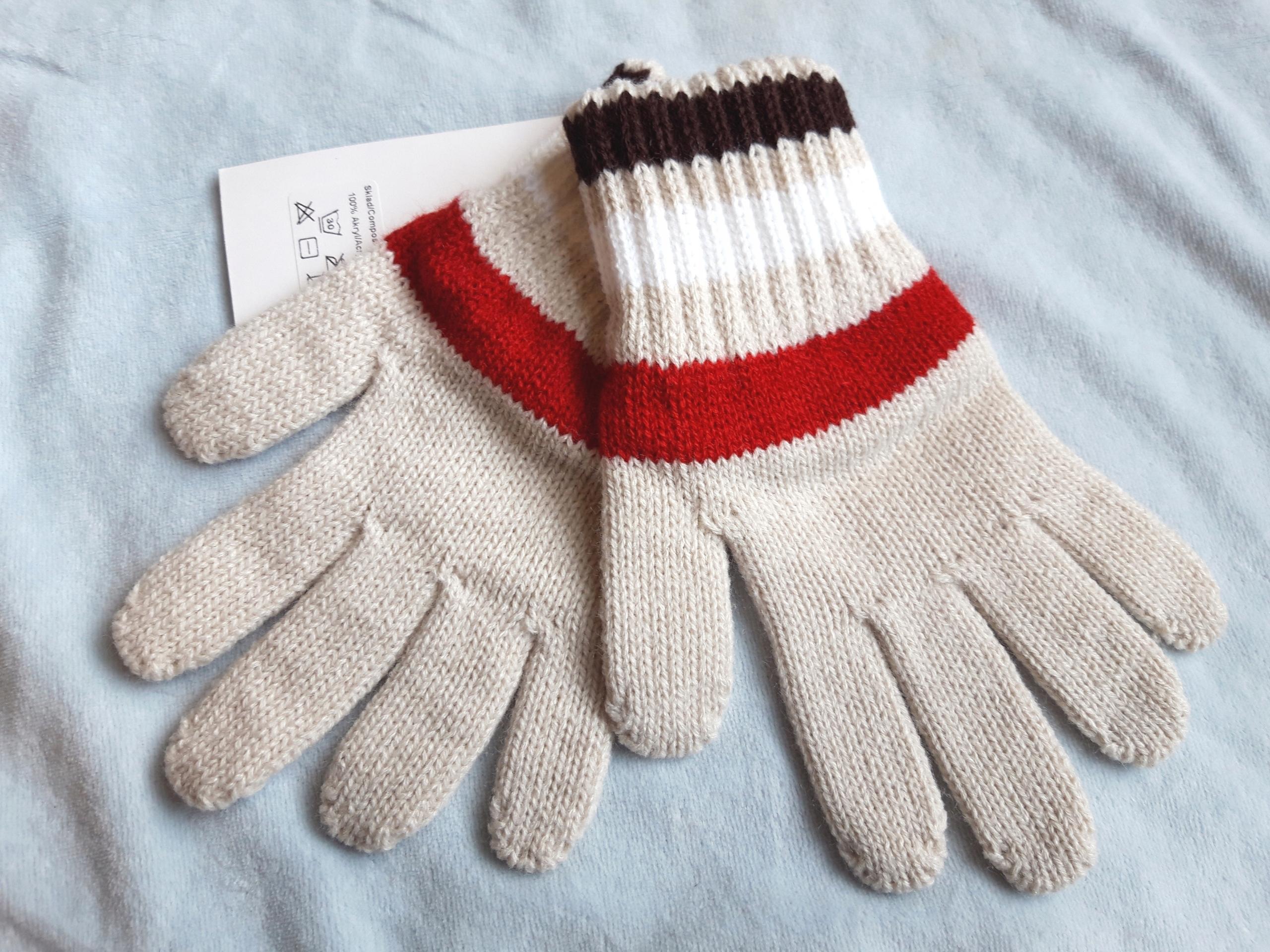 Rękawiczki pięciopalczaste chłop. 98-128 cm 3-8 l