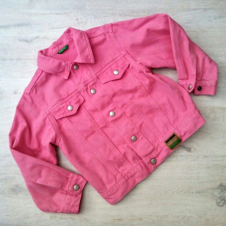 BENETTON katanka katana kurtka jeans 90 cm