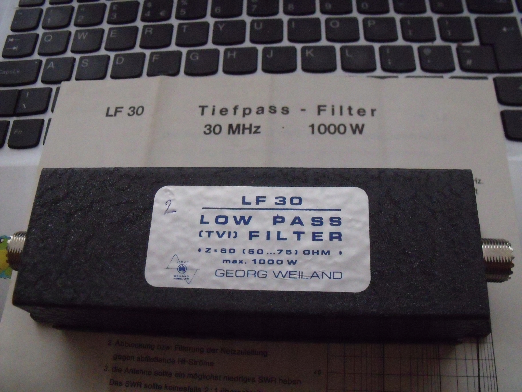 LF-30 Low Pass Filter 0-30 MHz / 1kW