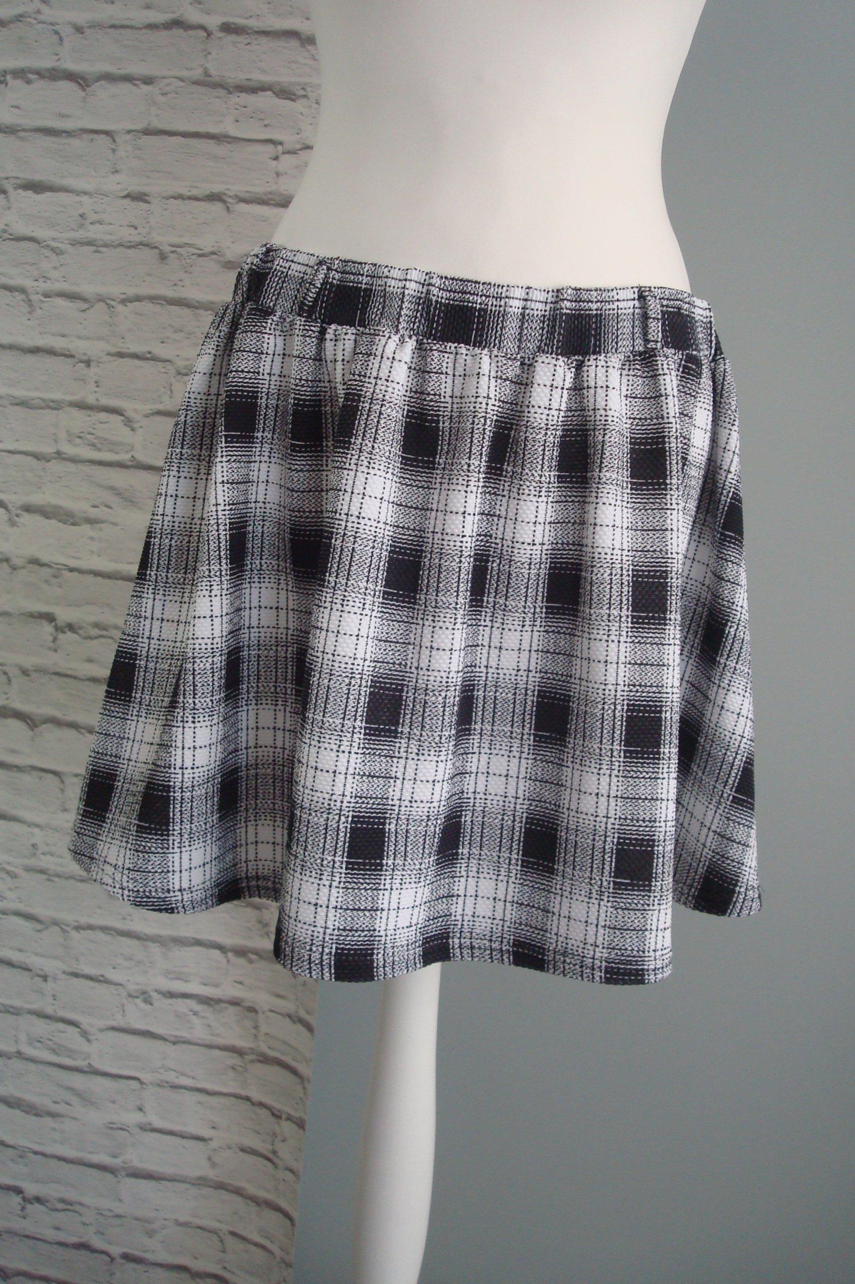 0ebe19a49f7751 ATMOSPHERE spódnica czarna biała krata casual 42 - 7452417137 ...
