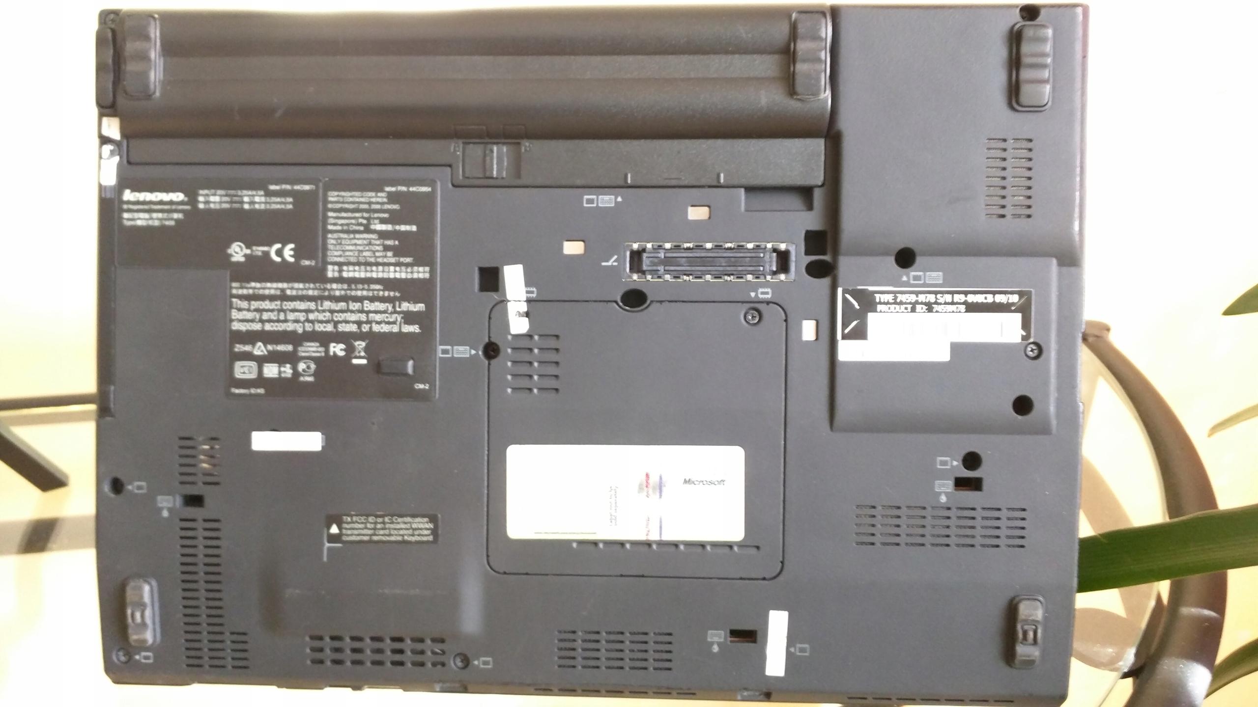 Laptop IBM LENOVO X 200 system LINUX Mint 18 1 - 7951873798