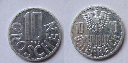 Austria 10 groschen 1997
