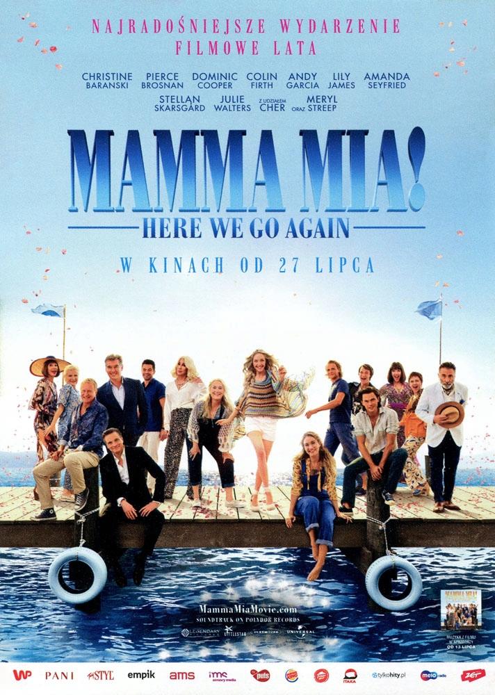 Plakat Kinowy Mamma Mia Oryginał 8114095728 Oficjalne