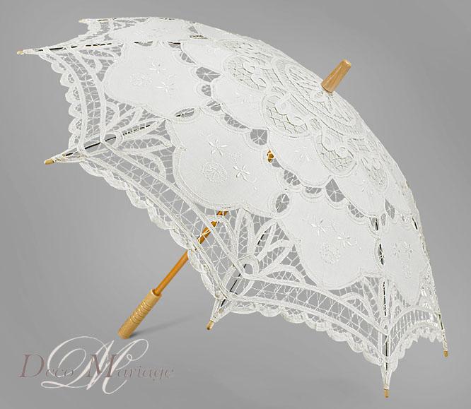 PARASOLKA ŚLUBNA CLASSIC suknia ślub biała