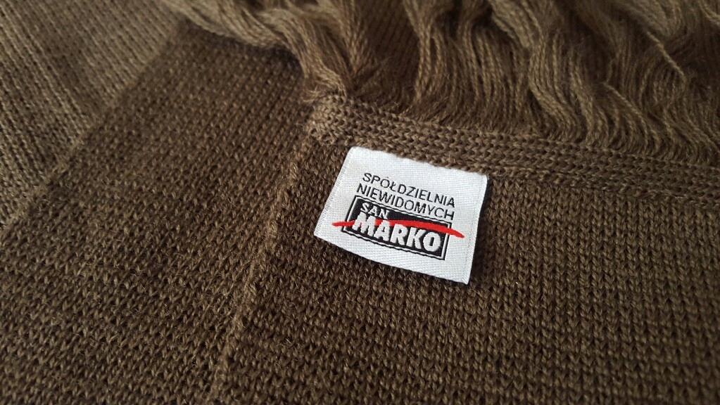 Szalik zimowy oficerski - khaki Wzór 535/MON