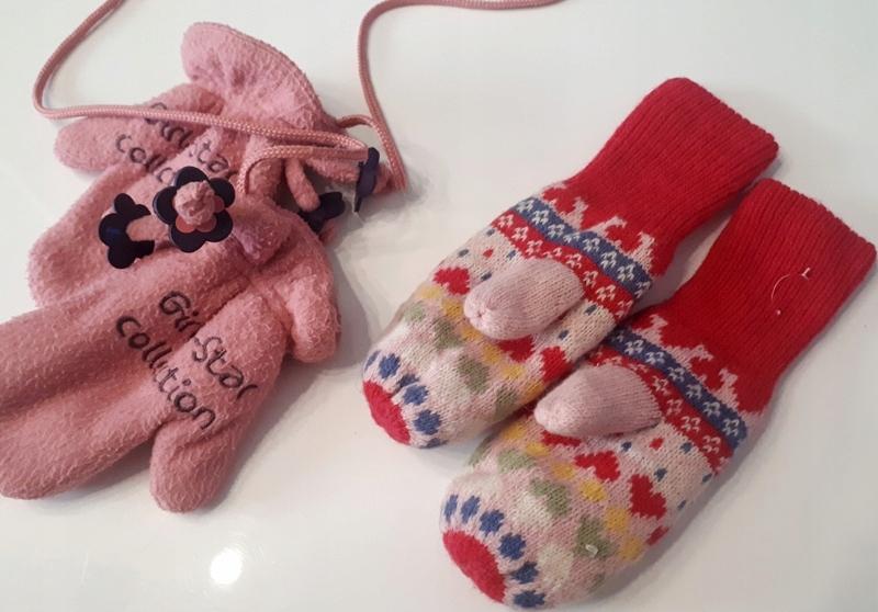 zima KOROWE ĘKAWICZKI H&M serduszka + gratis