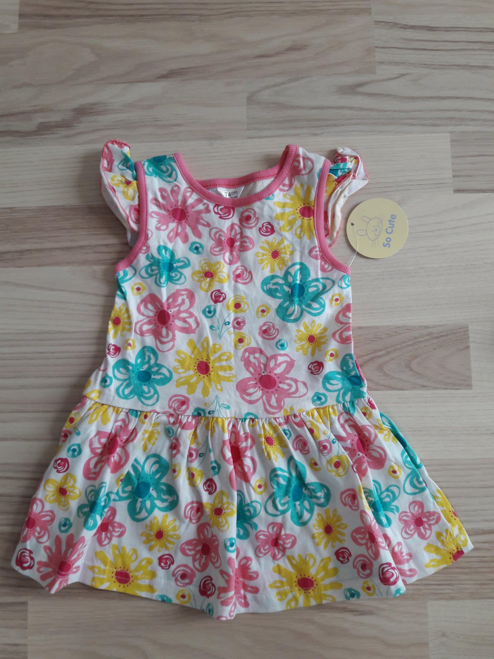 Nowa sukienka rozm 74