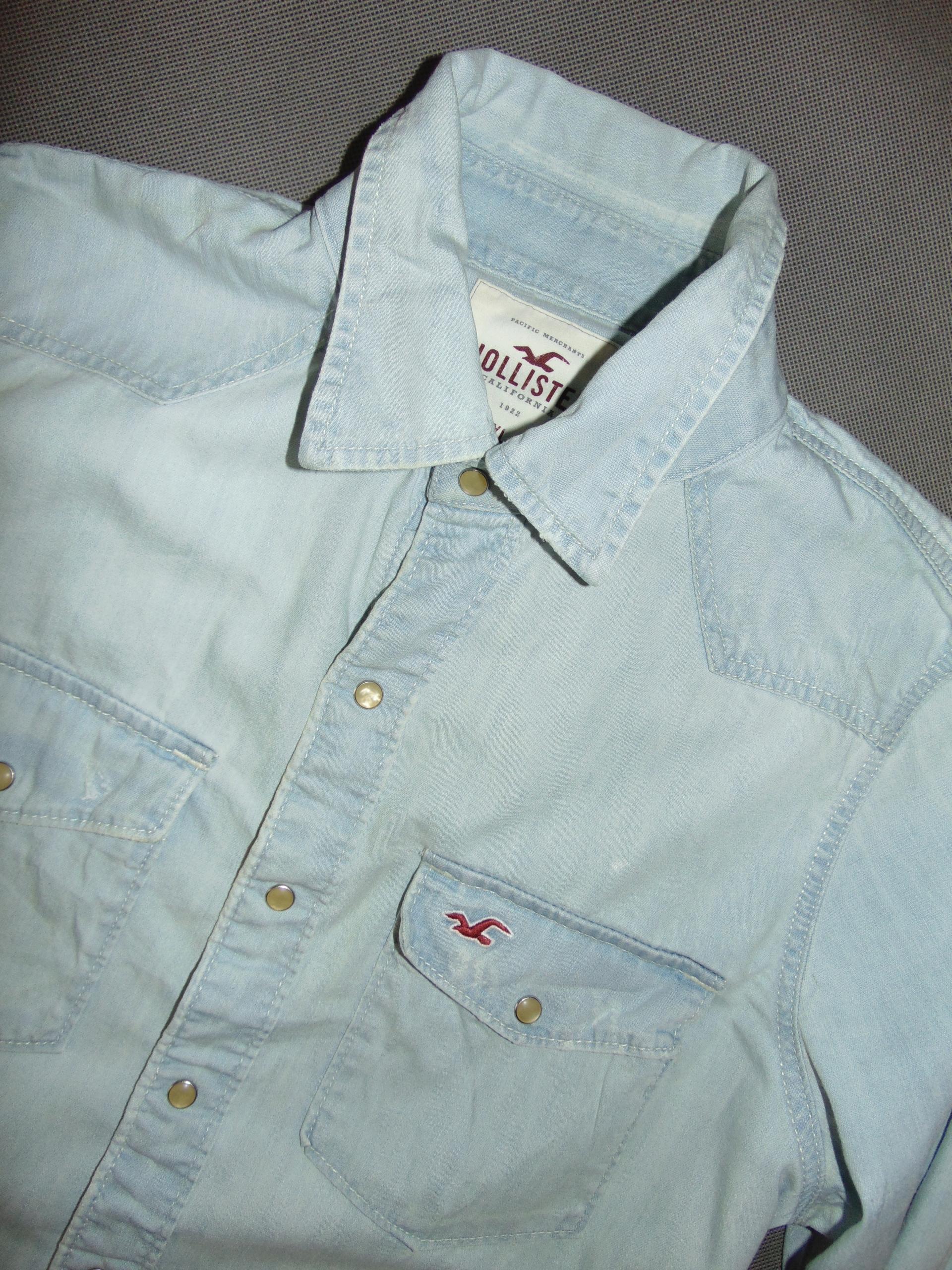 HOLLISTER bluza męska jeansowa r XL