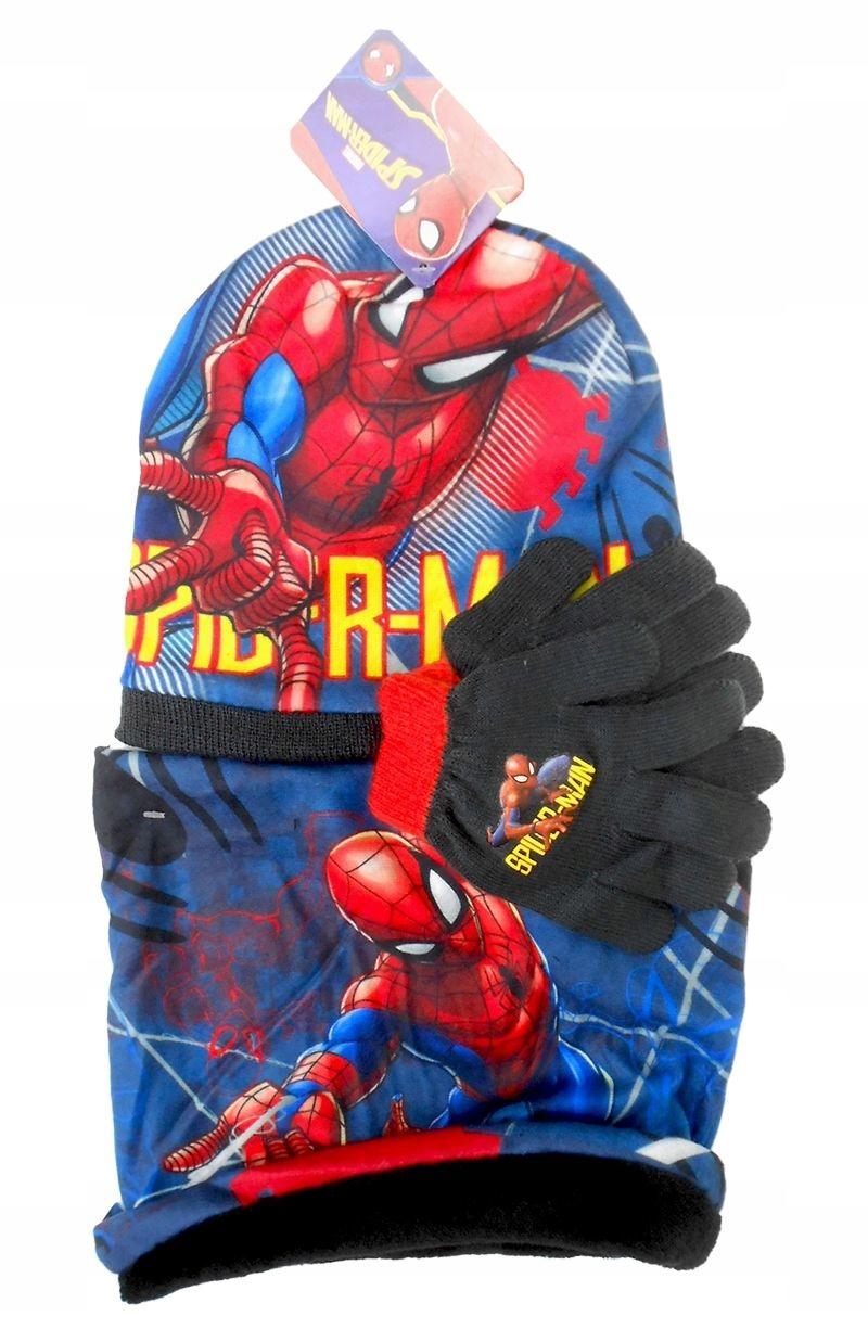 Czapka jesienna szalik i rękawiczki Spiderman