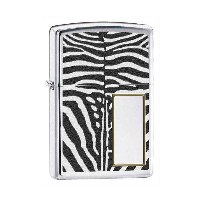 ZIPPO Zebra + Twój Grawer