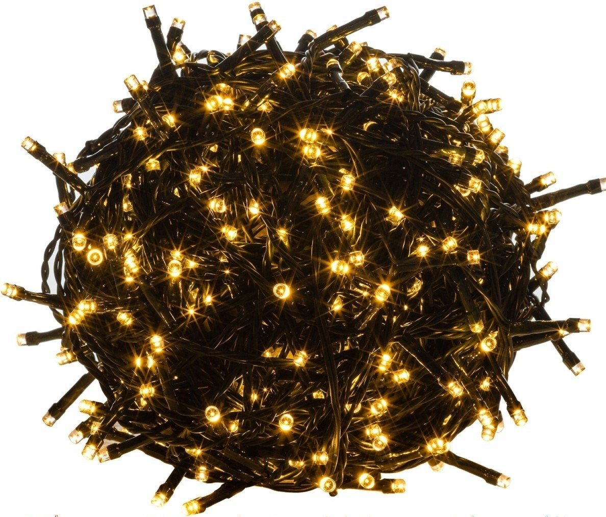 Lampki ogrodowe 100 LED ciepłe białe na łańcuchu