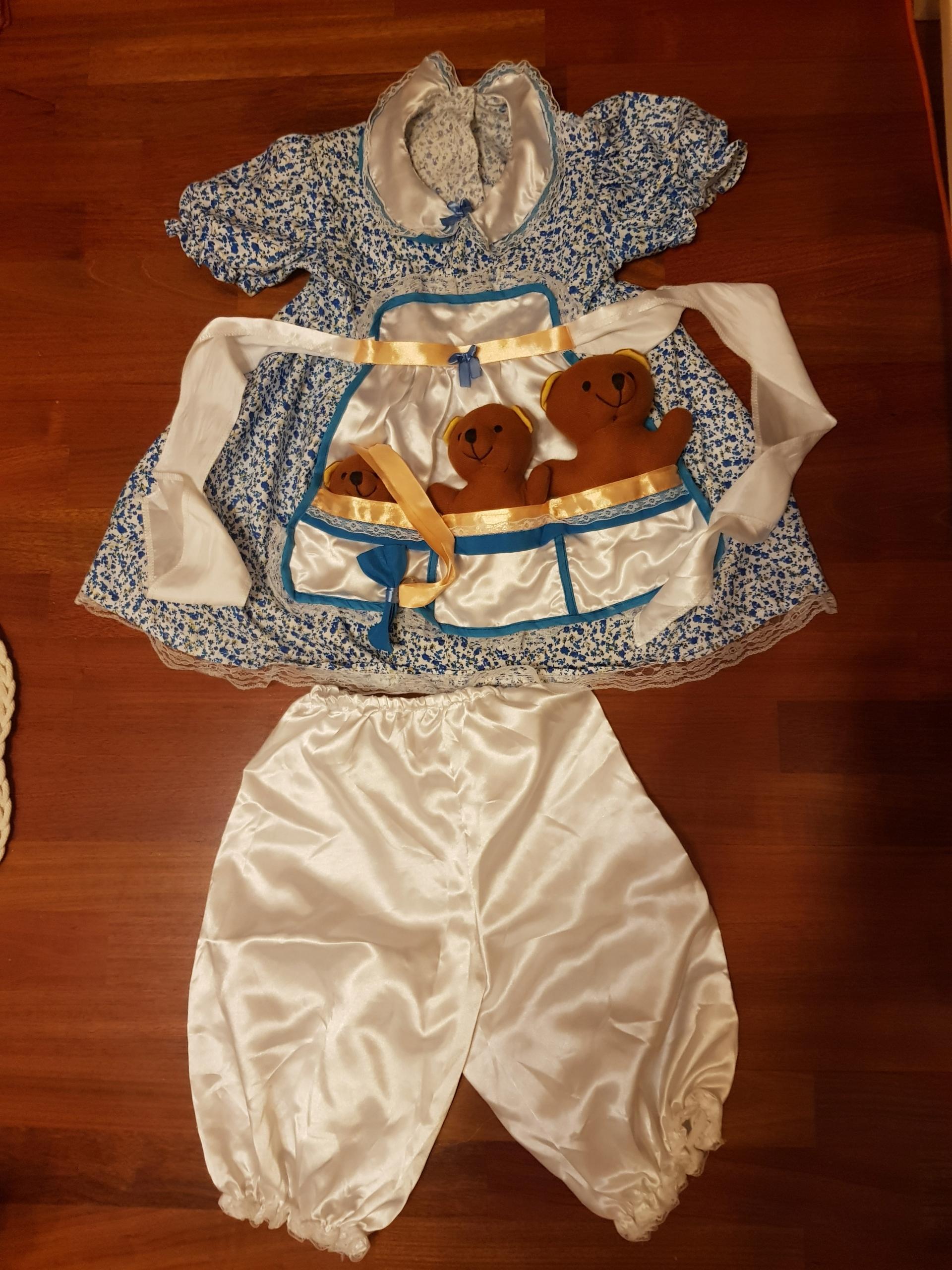 przebranie, stroj kostium Goldie Locks and 3 bears