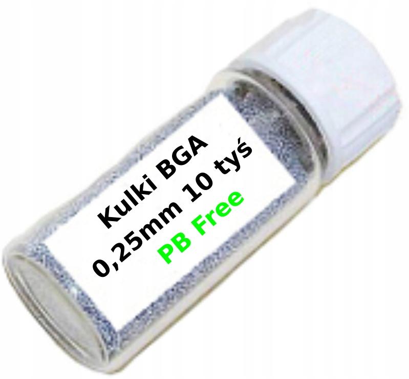 Kulki BGA 0,25mm 10tys Sn63/Pb37 PB Free