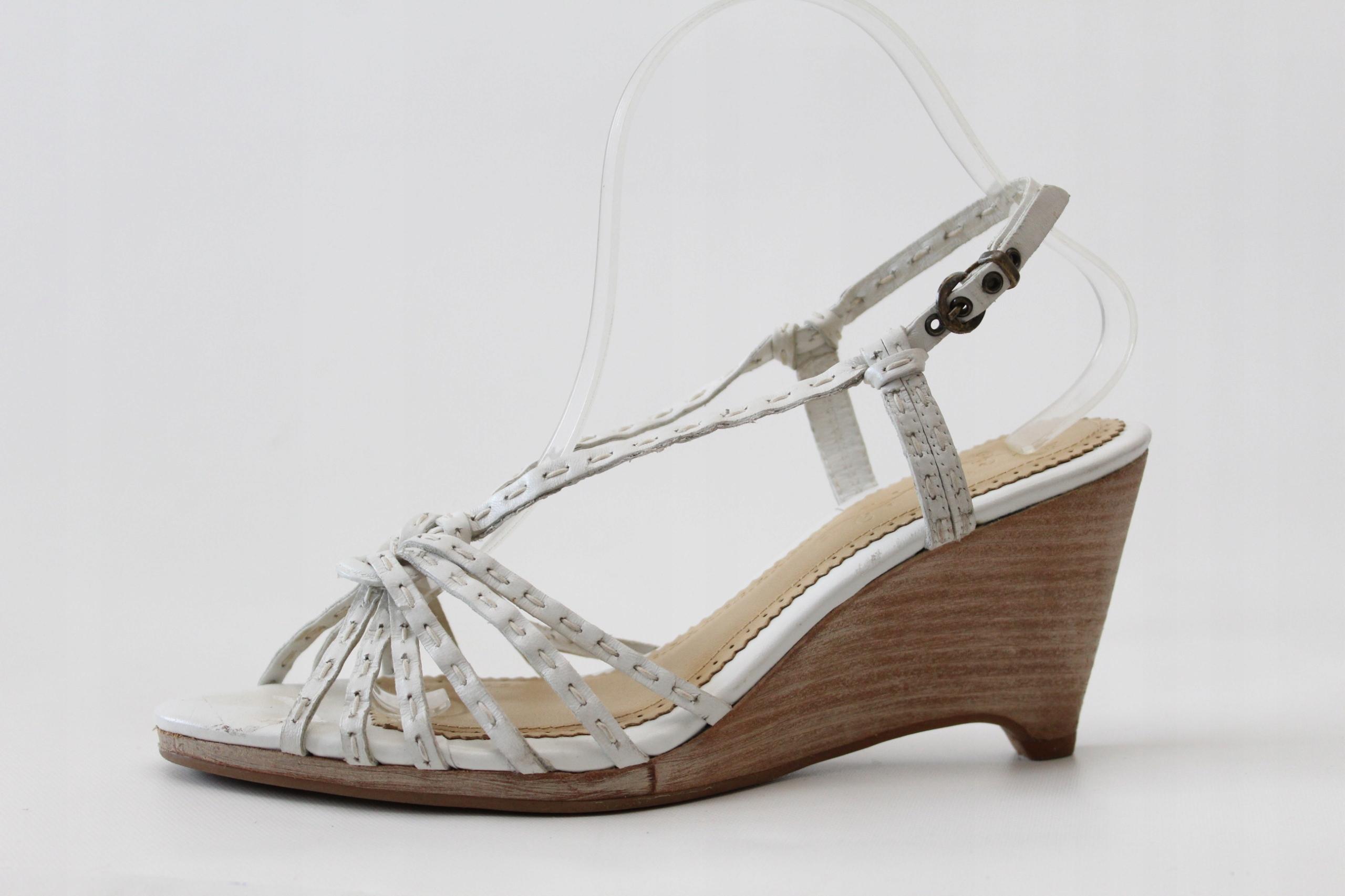 CLARKS - skórzane sandały r. 41 (26 cm)