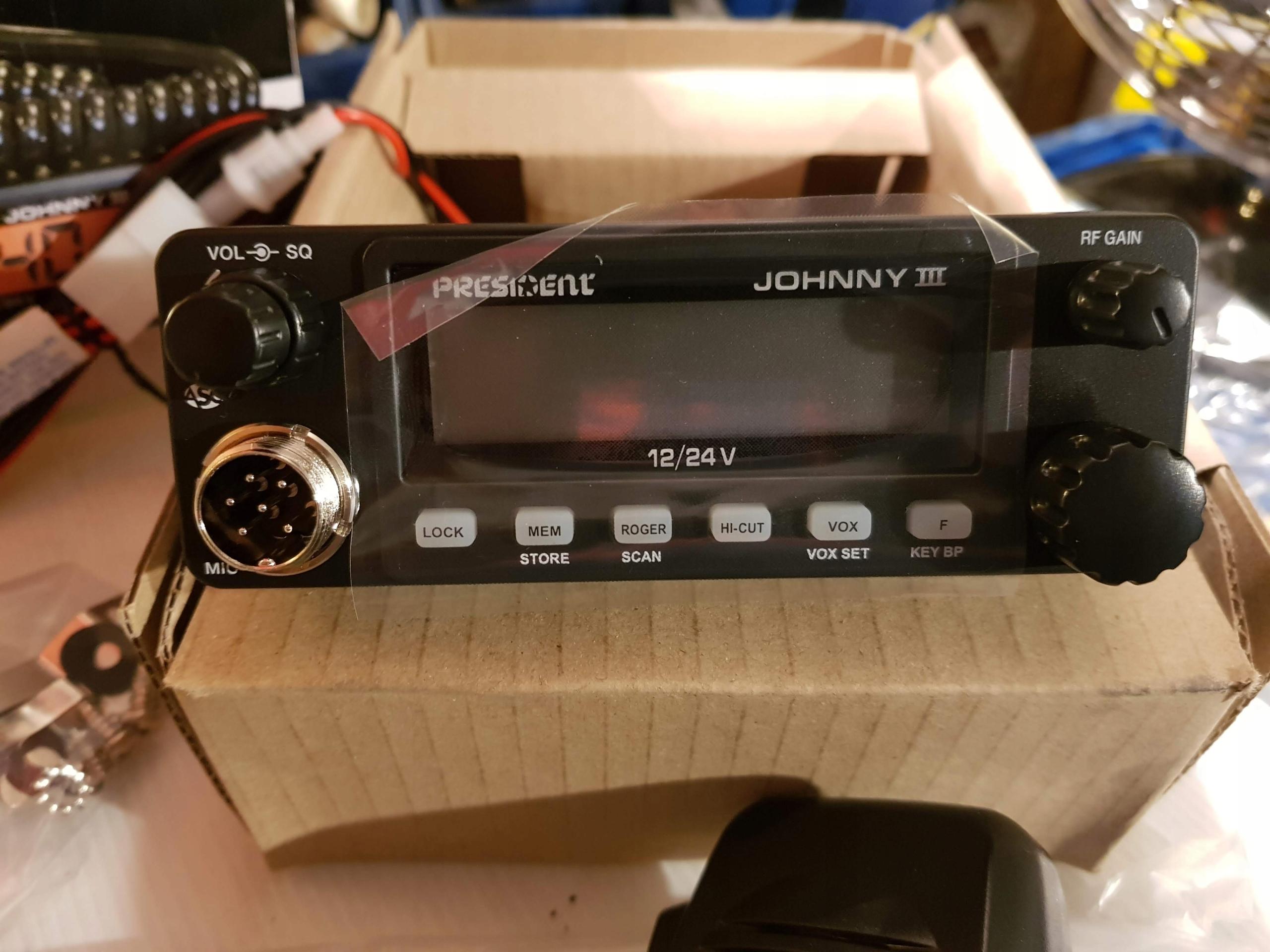 PRESIDENT JOHNNY III ASC RADIO CB AM 12V/24V NOWE