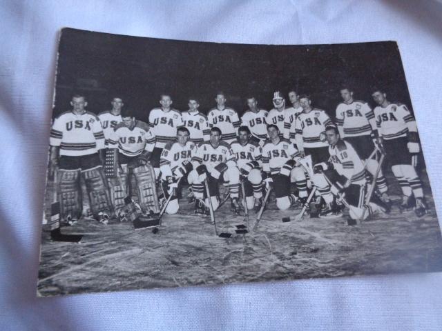 Pocztówka hokej na lodzie 1964 USA 6