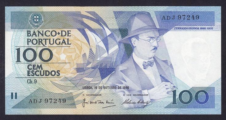 PORTUGAL 100 ESCUDOS 1986 P-179a UNC