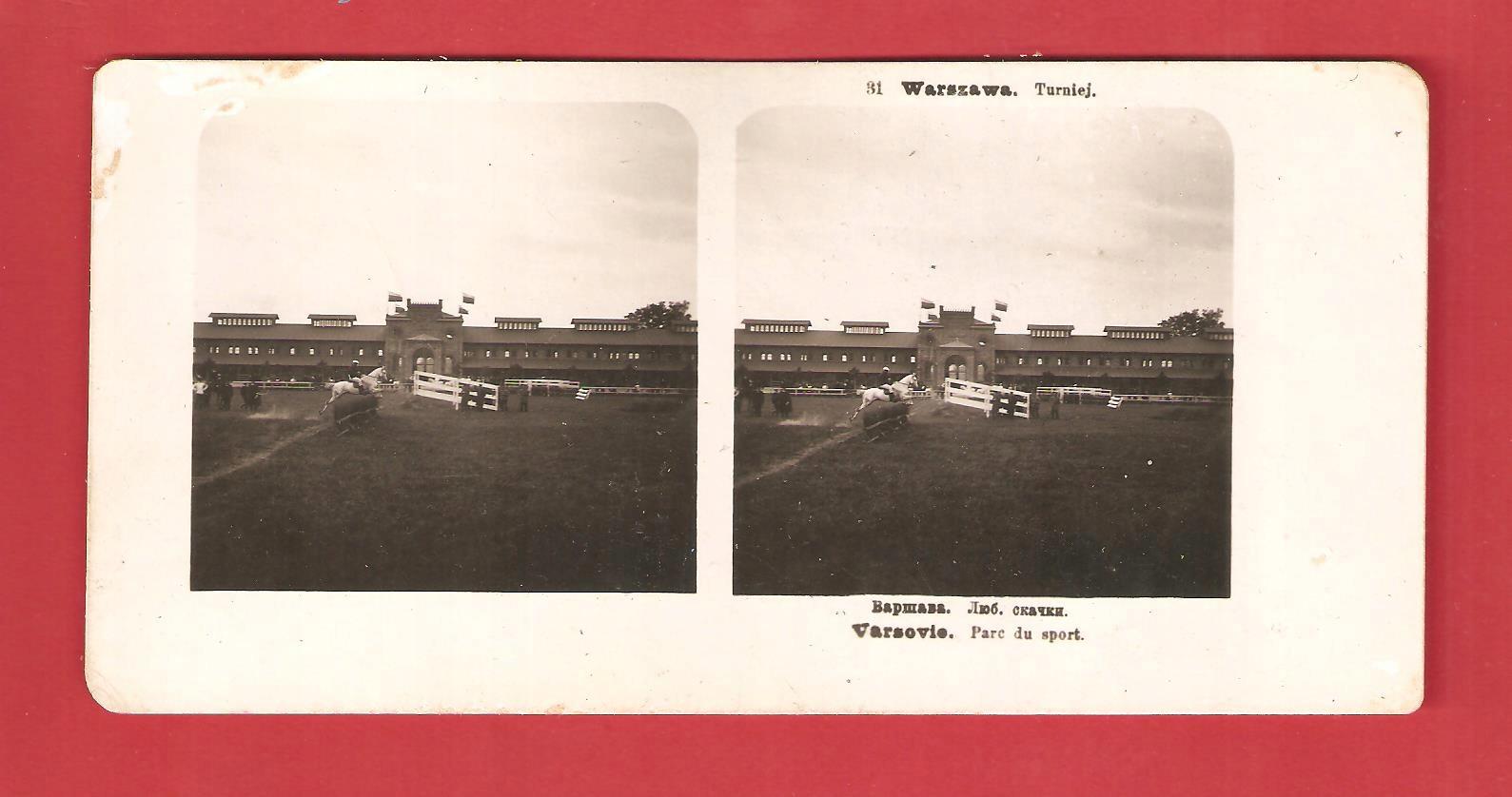 Warszawa 1905 Zawody Tor wyscigów konnych