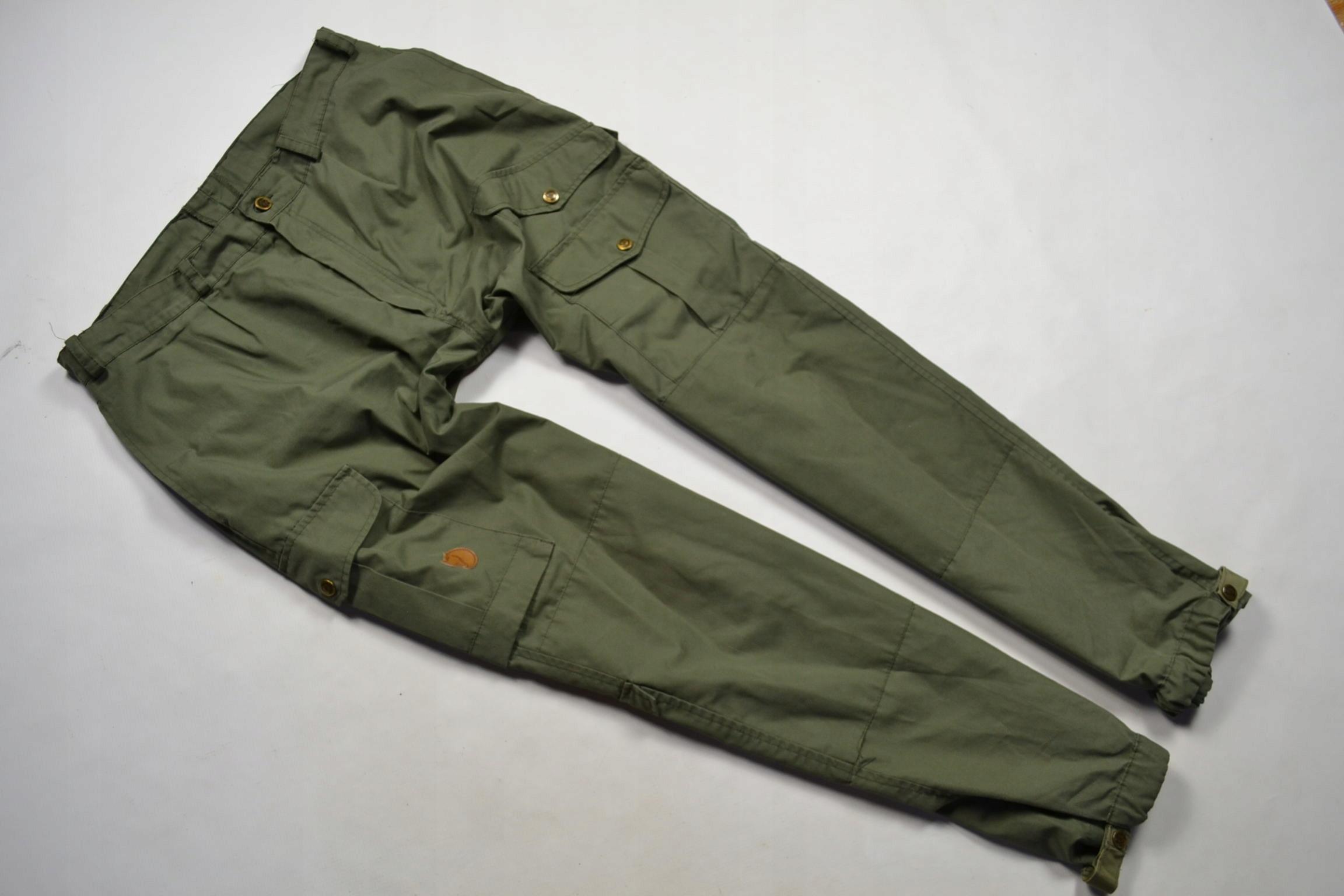 Fjallraven spodnie bojówki myśliwskie khaki 52