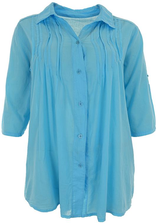 kNN4669 niebieska bawełniana koszula 48/50