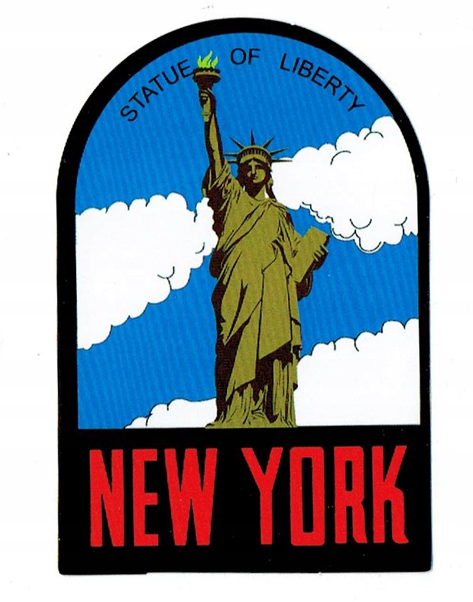 super słodki profesjonalna sprzedaż naprawdę wygodne NEW YORK NAKLEJKA NA WALIZKĘ LAPTOP AUTO NOWY JORK ...