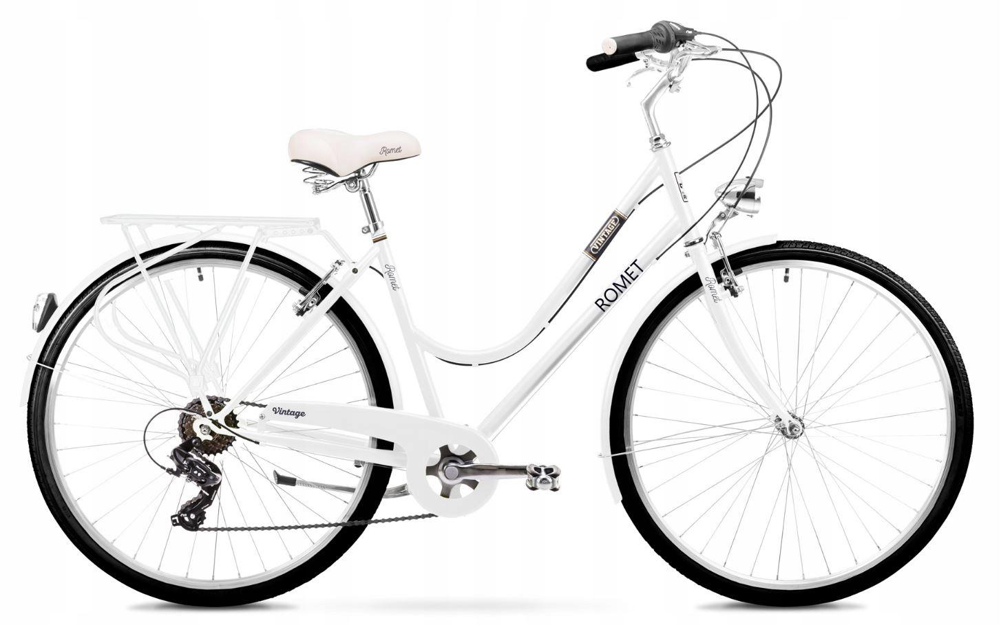 Rowery do miasta Romet Vintage D Biały 20''