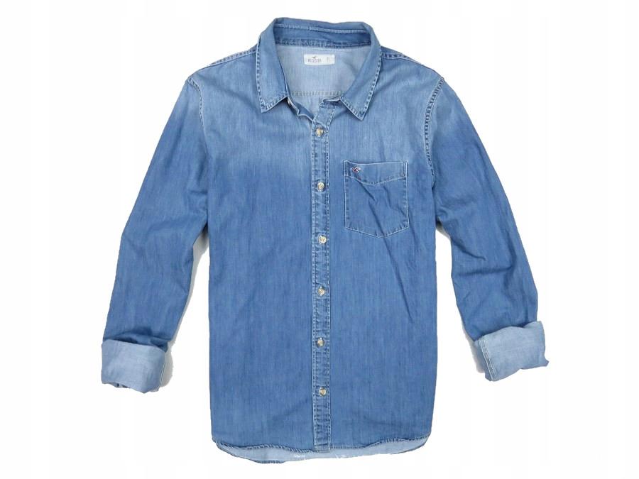HOLLISTER koszula jeansowa dżins vintage męska XL