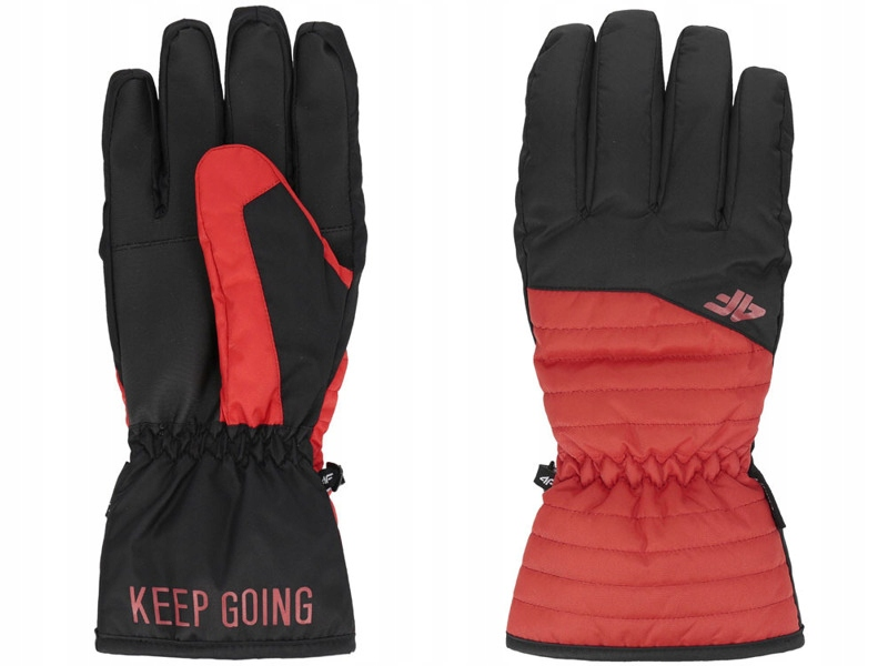 Rękawiczki narciarskie męskie REM001 4F czerw. M