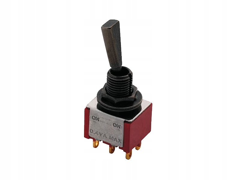 Przełącznik MEC 80003 mini toggle On/On (BK)