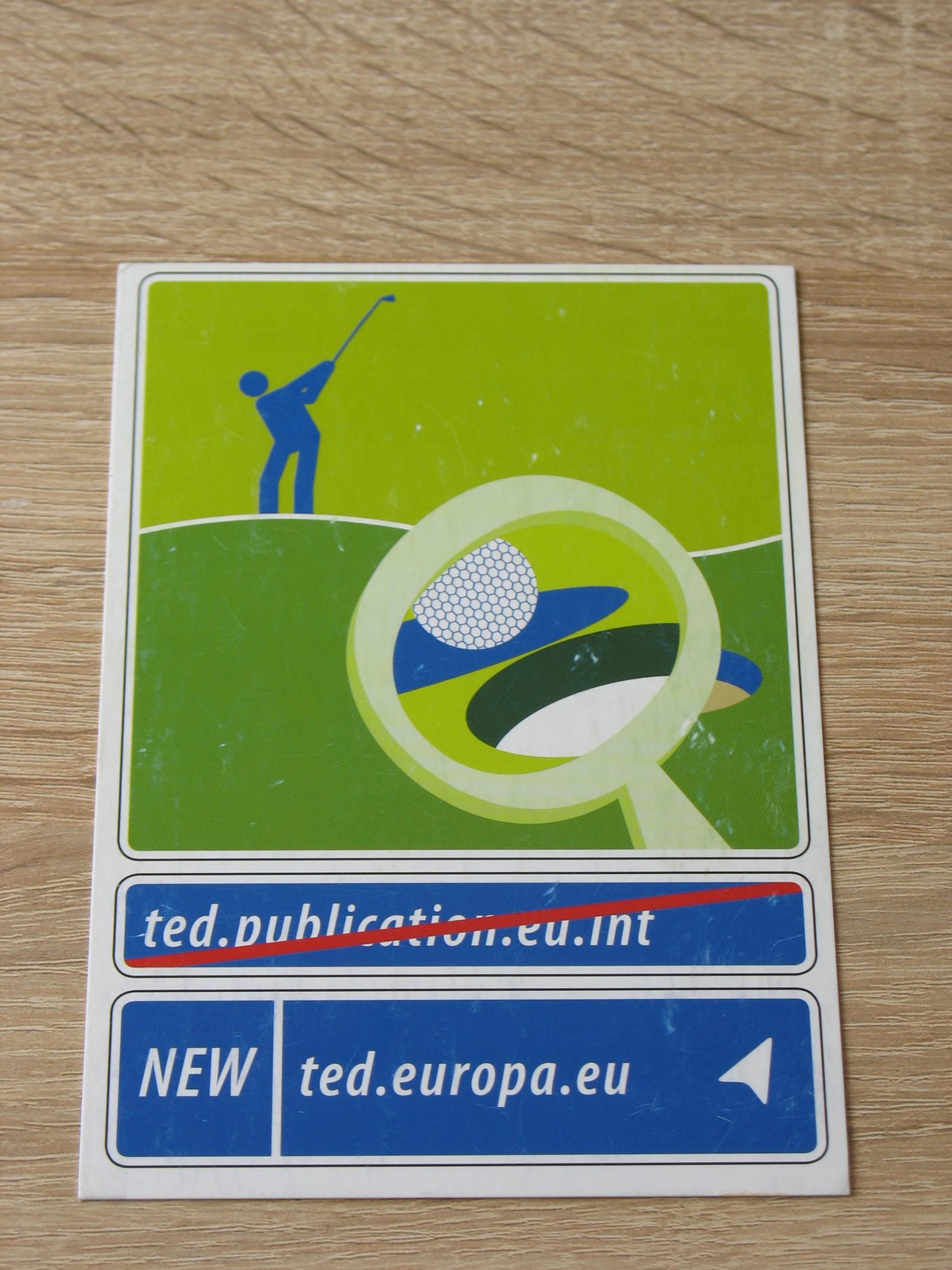 Golf - pocztówka reklamowa