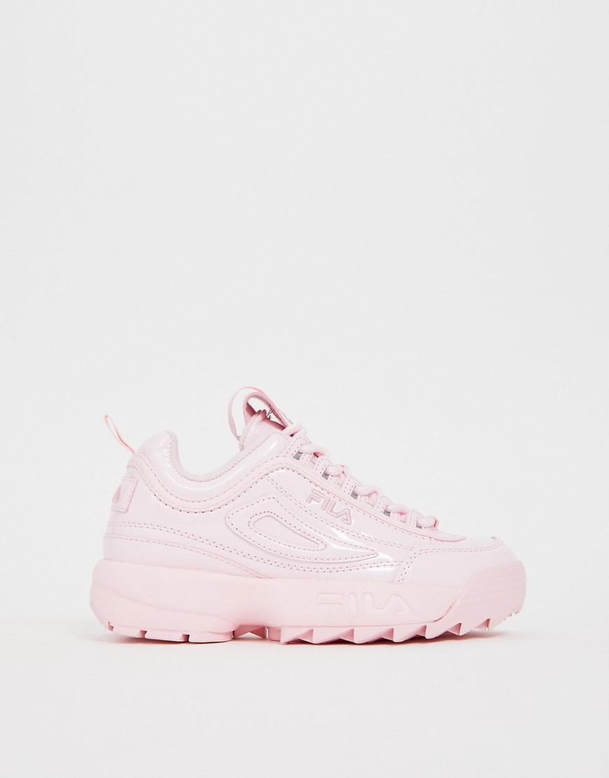 FILA Disruptor II Premium Patent Leather Shoes