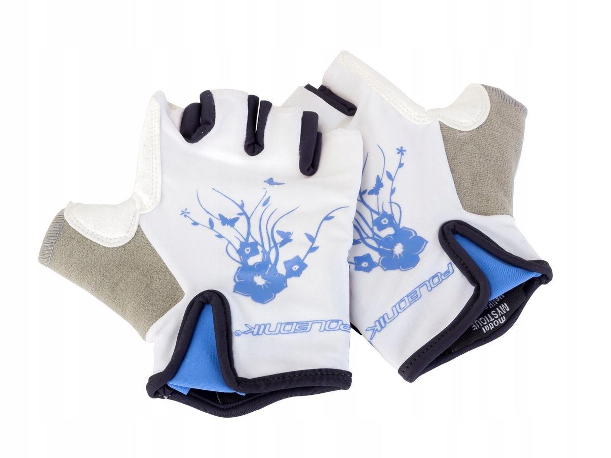 Rękawiczki rowerowe MYSTIQUE kolor niebieski XS