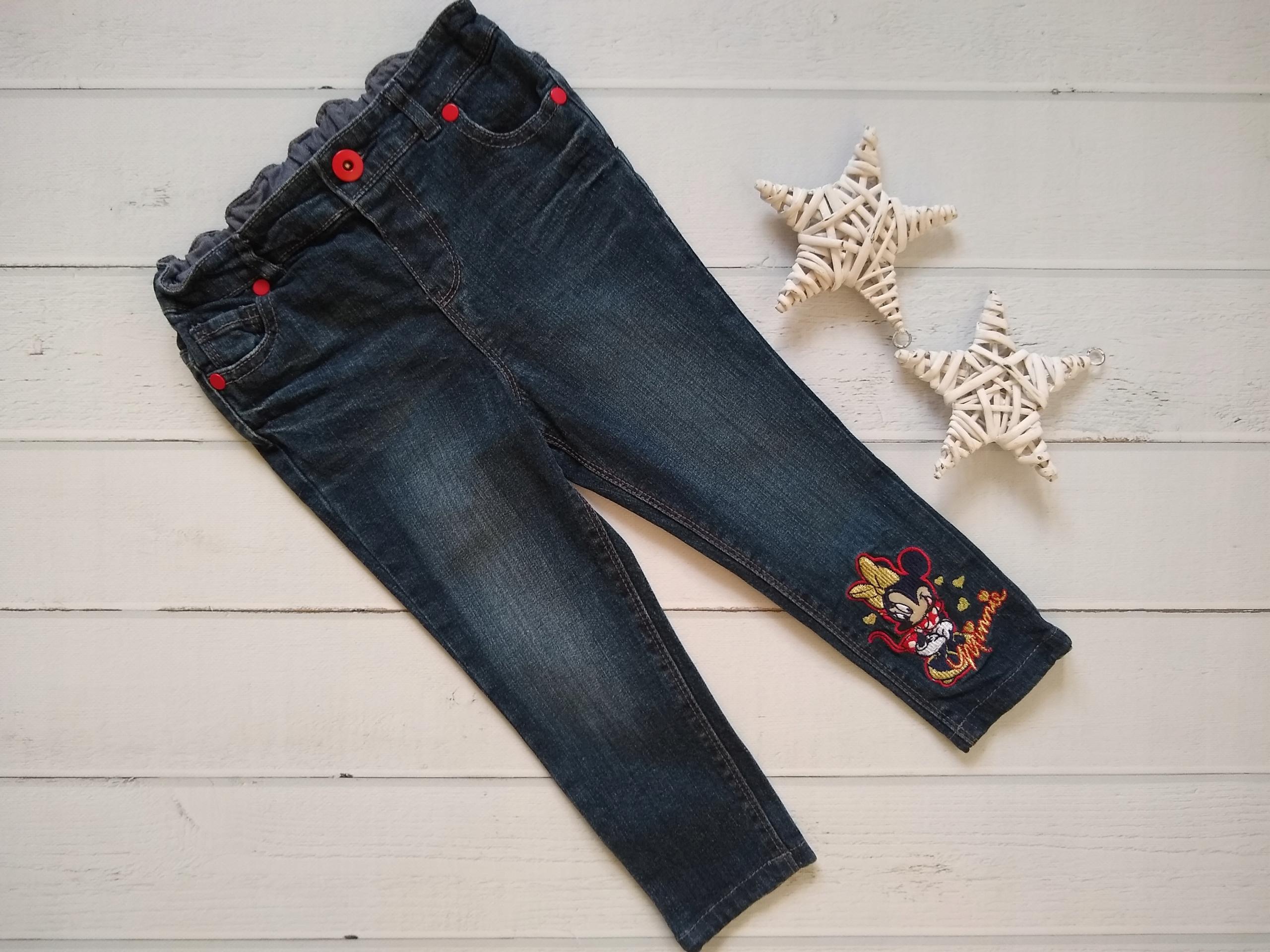 Disney george spodnie jeansowe z myszką Minnie 98