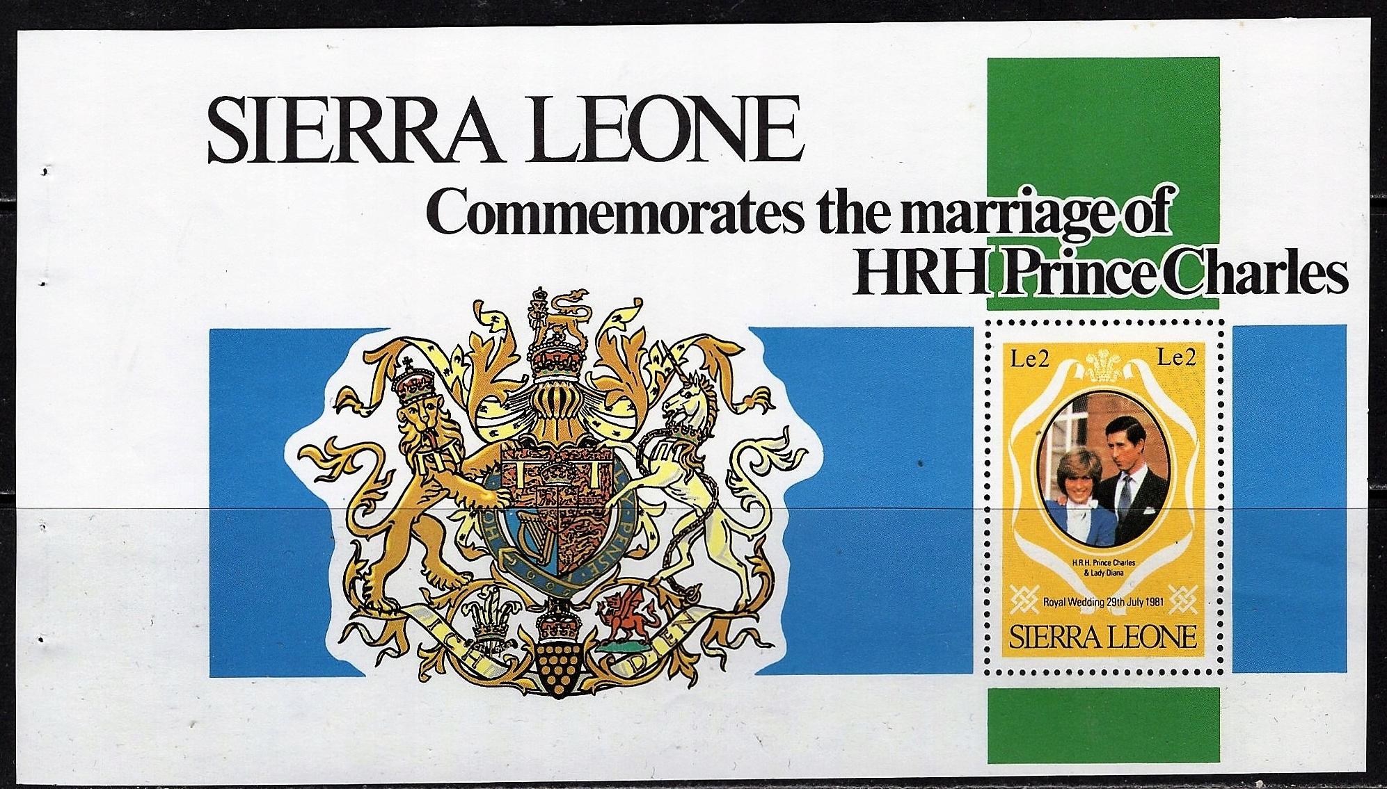 Sierra Leone Pr.Charles blok czysty **