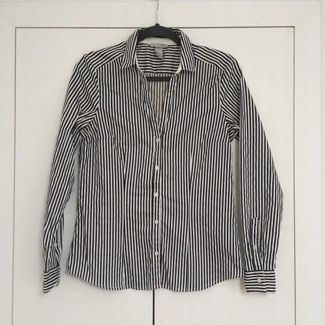 Czarno biała koszula elegancka H&M L