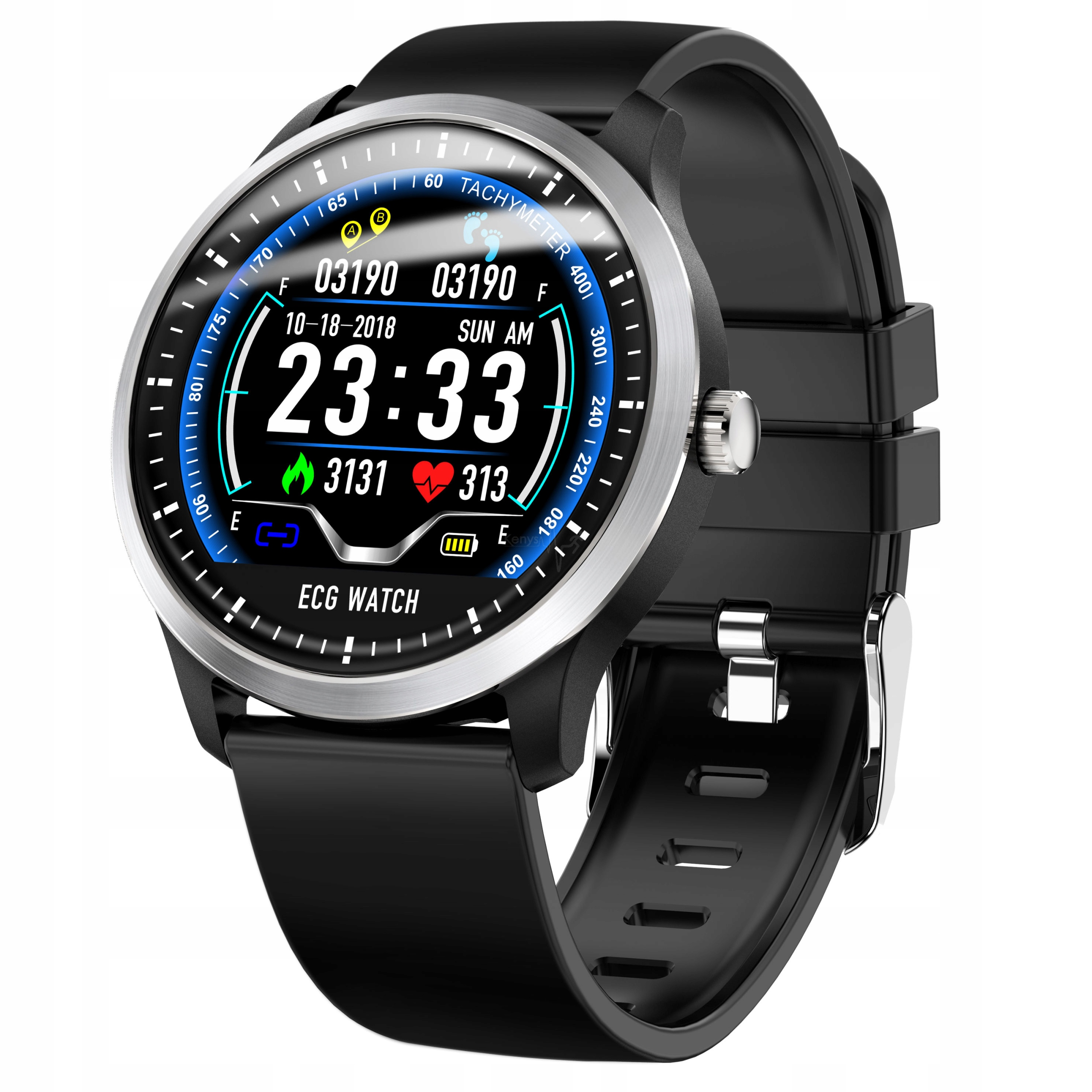 Smartwatch EKG, zegarek, ciśnieniomierz, puls, IP6